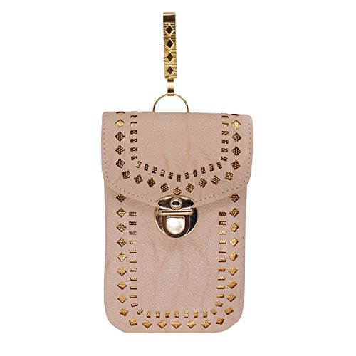 Bagaholics Ethnic Saree Clutch Leather Mobile Pouch Waist Clip Ladies Purse Gift...