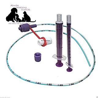 NEW LONGLIFE 5f Sterile Tube Feeding Kit (Tube, 5 French, 1 x 1ml & 1 x 2.5ml & Cap) Whelping Puppy Kitten Small Animal
