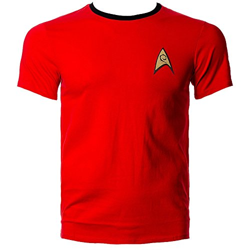 T Shirt Star Trek Uniform (Rosso) - Small