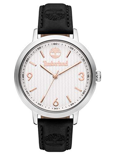 Timberland Damen Analog Quarz Uhr mit Leder Armband TBL15643MYS.01