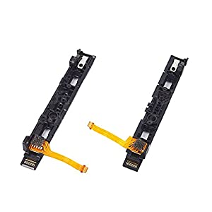 Feicuan Ersatz Left and Right L/R Slider Assembly with Flex Cable Parts Reparatur für Nintendo Switch Controller Joy-Con
