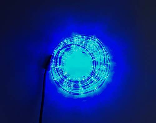 5 Meter Lichtschlauch - Leds in 5 Farbe - Für Innen und Außen - 24 Leds pro Meter (Blau) -