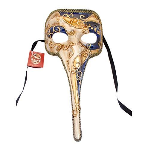 Handgefertigte venezianische Maske Lange Nase Ballmaske, Fasching Herren (N03) (Venezianische Maske Nase)