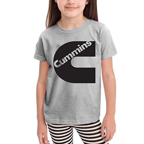 en Shirts Cummins T Shirt Kurzarm T-Shirt Für Tollder Jungen Mädchen Baumwolle Sommer Kleidung Grau 4 T ()