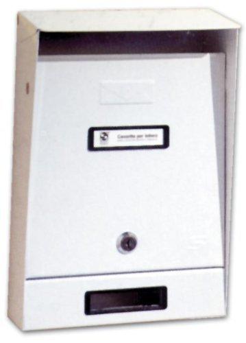 Cassetta postale per esterni silmec art. 10.202 lamiera verniciata colore bianco