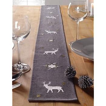 Table Runner,Woopower 33cm Width Cotton Linen Tree Pattern Table Cloth Home Decoration-160cm//180cm//200cm//220cm//240cm Length for Choice 33x240CM,Beige