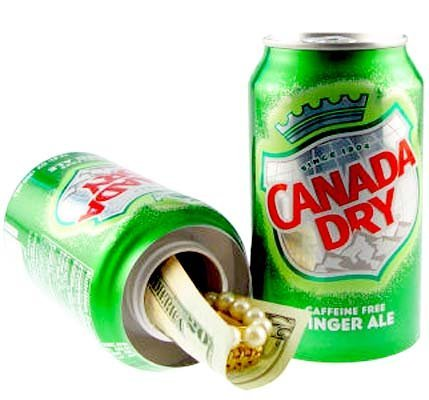 Home Safe - Can Safe - Canada Dry Soda Safe by HomeAlarmsAndPersonalSecuritySystems