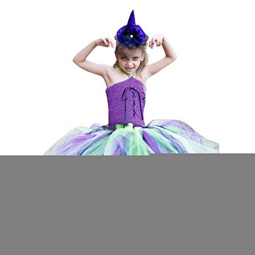 Kostüm Rüschen Hexe - Mädchen Tulle Kleider Halloween Kostüm Piebo Kinder Rüschen Hexe Cosplay Party Fancy Fantasie Festkleid Geburtstag Verrücktes Dress Up Outfit Hochzeit Prinzessin Kleid Ärmelloses Vampirkostüm