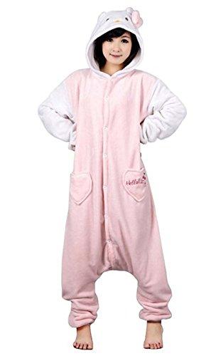 Außen-Winter-Top aus Flanell Pyjama Einteilig Unisex Erwachsene Pyjama -