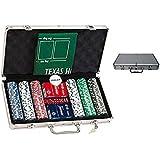 Maletin de poker de 300 fichas, con tapete. Fichas numeradas de 11,5 gr. Incluye 2 barajas Fournier calidad casino