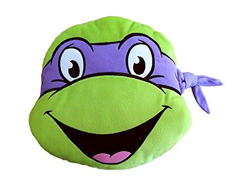 Ninja Turtles T & F Dekokissen, Polyester, Grün/Violett, 37x 37cm