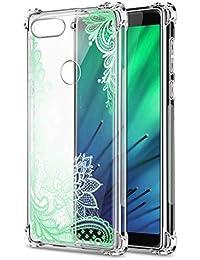 Oihxse Cristal Compatible con Samsung Galaxy J6Plus/J6Prime Funda Transparente TPU Silicona Estuche Airbag Esquinas Anti-Choque Anti Rasguños Diseño Rosa Flower Caso (Flores B10)
