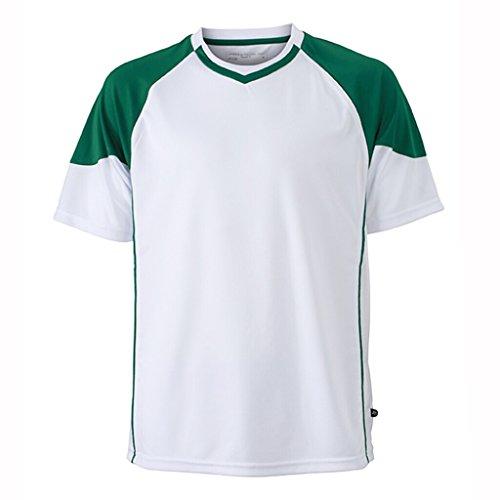 JAMES & NICHOLSON Funktionelles Teamshirt White/Green