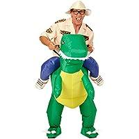 Huckepack Kostüm Pferd Aufblasbares Cowboy Kostüm Step in Westernkostüm Fasching