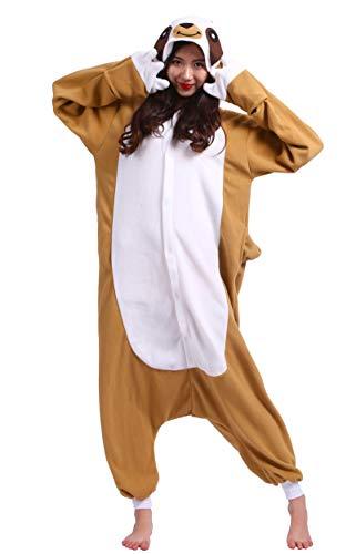 suit Tier Pyjamas Kostüm Fasching Onesie Damen Herren Karneval Cosplay Nachtwäsche, Faultier ()