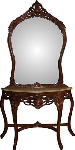 casa padrino barock spiegelkonsole silber mit marmorplatte konsolen