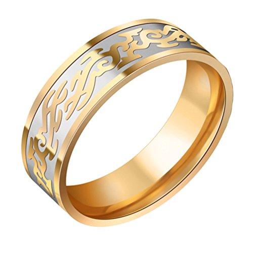 tahl Jahrgang Drachen Muster DomineeRinge Zeigefinger Gold Ringe GrößE 62 ()