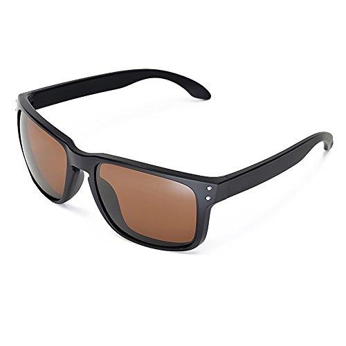 Kiss Sonnenbrille BLUE BLOCKER mod. RACING FLAT - gelben Gläsern vs. Licht Blau herren damen SPORTIVI - SCHWARZ