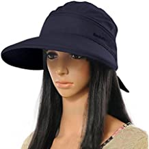 La Haute Sombrero ancho de ala grande, visera, sombrero, gorra, verano, playa, sombrero, niña mujer, azul marino