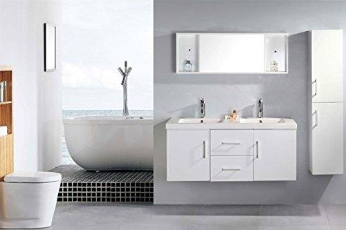 Arredo bagno mobile doppio mobile bagno completo pensile cm