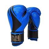 Guantoni da boxe Junior Kids & Adult Taglie Muay Thai Training in pelle Sparring Punching Bag, 2,8 OZ