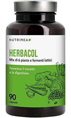 herbacol colon cleanse - 5 piante e radici naturali per sgonfiare l'addome - depurante e drenante pulisce il colon e l'intestino - equilibrio intestinale - cura detox vegetale e naturale