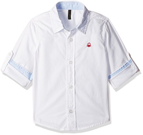 United Colors of Benetton Baby Boys' Shirt (16A5POPC0196I1010Y_White)