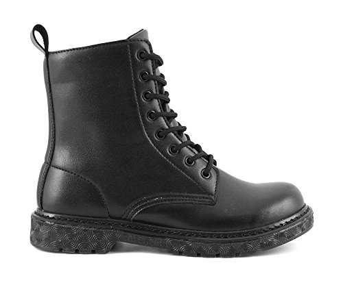 CAFE' NOIR ANFIBI DONNA TIPO DR MARTENS NERO COD. FH903 NEW A-I 2016-17