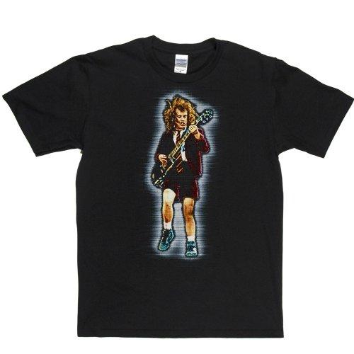 Angus Young Scottish Australian Guitarist Electric T-shirt Schwarz