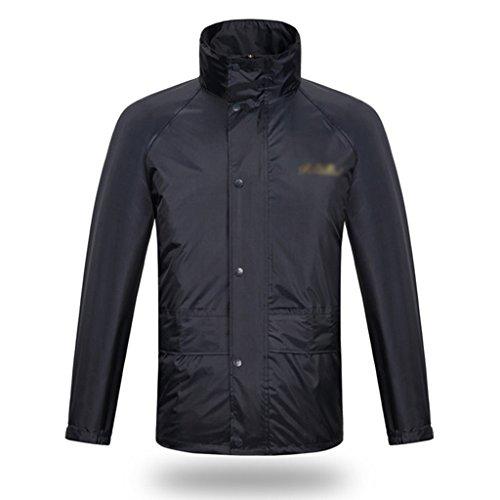 Raincoat Rain Pants Set Motos Electric Car Hommes et femmes Raincoat rainuré Double épais Poncho adulte (taille: XXL) ( Couleur : A , taille : XXL ) A