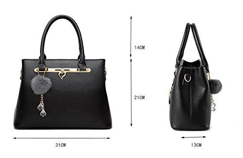 Damen Handtasche Mode Schultertasche Messenger Bag Einfache Wilde Temperament Elegant Red2