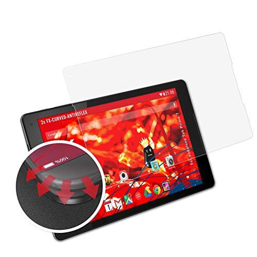 atFolix Schutzfolie passend für Vodafone Tab Prime 7 Folie, entspiegelnde & Flexible FX Bildschirmschutzfolie (2X)
