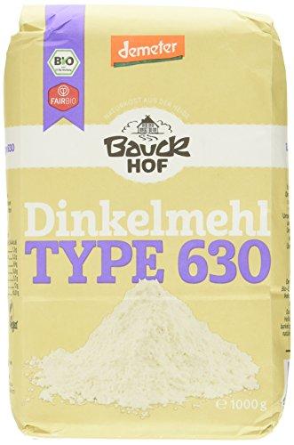 Image of Bauckhof Dinkelmehl hell T630 Demeter, 4er Pack (4 x 1 kg)