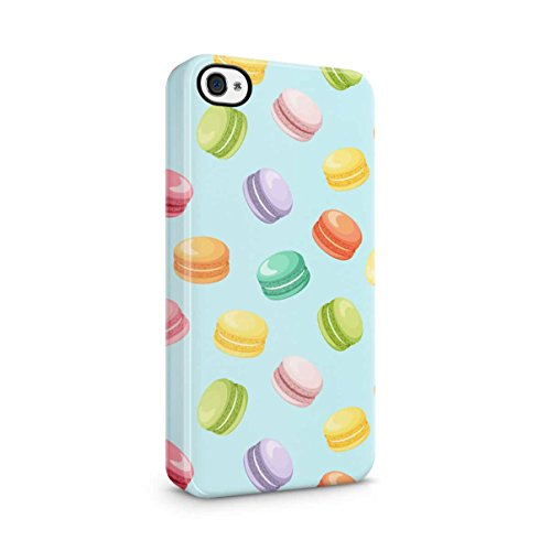 I Wish You Were A Macaron Quote Rainbow Macarons Pattern Apple iPhone 5 , iPhone 5S , iPhone SE Snap-On Hard Plastic Protective Shell Case Cover Custodia Rainbow Macarons