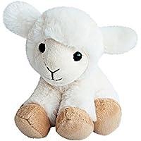Histoire dOurs - Peuches et Doudous - Peluche Agneau Mouton - Blanc beige -