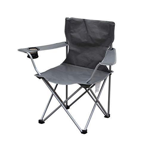 BFQY FH Chaise Pliante Extérieure, Fauteuil De Plage Arrière Décontracté, Chaise De Pêche, Canapé De Camping, Chaise 50 × 50 × 85cm, Gris Foncé