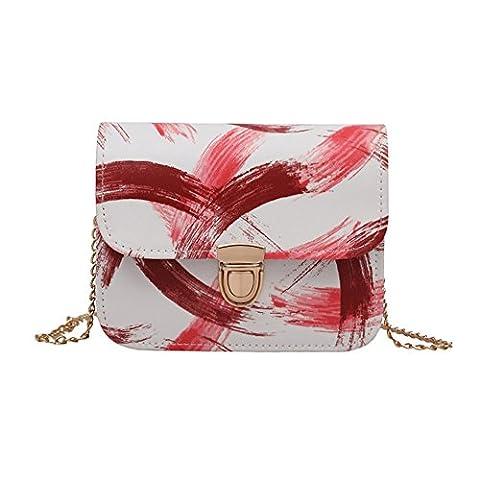 Rokoo Women PU Leather Handbag Shoulder Bag Purses Crossbody Chain Mini Messenger Bags