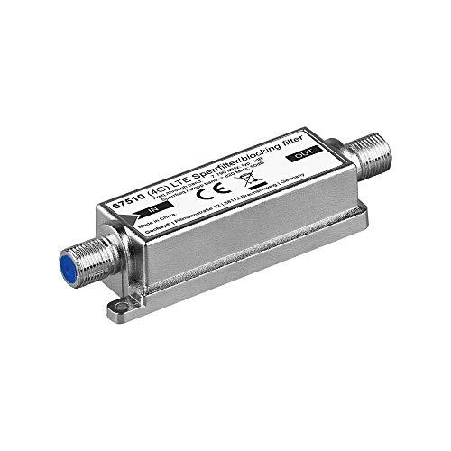 Goobay 67150 LTE (4G) Sperrfilter für besseren DVB-T Empfang, F-Buchse silber 2050 Mhz-tv