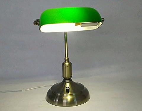 SUNQIAN-Grünes Glas Büro Schreibtischlampe, Tabelle Lampen Vintage-Heim Office
