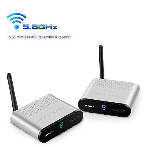Measy AV5305,8GHz 8-Kanal 300m/1000Fuß BZW. 305m Wireless Audio Video AV SD TV Sender Transmitter & Receiver