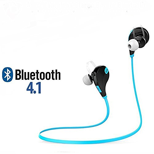 TechJazz Joggers Bluetooth Headphones With Mic Led Indicator Volume Control Charging Port Compatible with Ipad, Iphones, Samsung, Redmi4, Sony, Oneplus, Htc, Lenova, Asus, Lg, Coolpad,Xiaomi All Android Mobiles Smart Phones (TJ-JOG-YLW02- Light Blue)  available at amazon for Rs.499