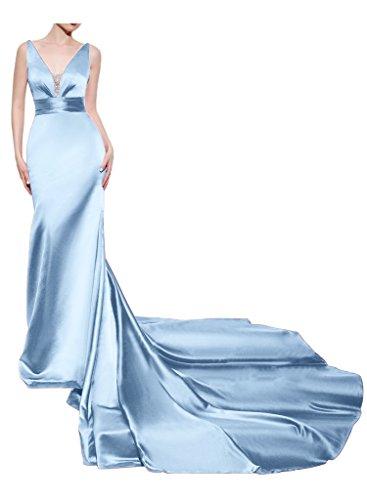 Missdressy - Robe - Dos nu - Femme bleu clair