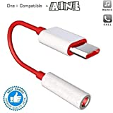Aine Type C to 3.5mm Splitter Stereo Audio Jack Converter Adapter Headphones Jack