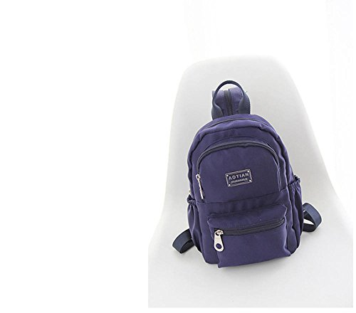 Resistente all acqua leggera nylon Piccolo zaino 1066, Poliestere, Violet, small Navy blue