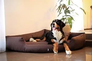 TIERLANDO TR5-01 Hundebett TRIVIA Eckbett Eckhundebett Hundesofa Hundebett Gr. XL 120cm Braun