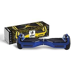 XTINGER ACBKD12AZUL Hoverboard de 15KM/H, hasta 100 kg, Negro, Azul