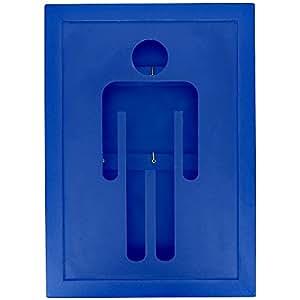 Promobo -Boite à Clés Armoire Murale Bois Design Clef Picto Homme Bleu