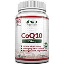 COENZIMA Q10-100 mg - 120 Comprimidos - Complemento alimenticio de Nu U Nutrition