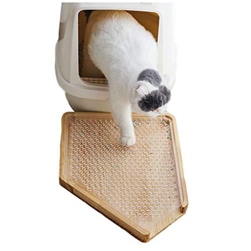 LTLJX Katzenstreu Matte KieferTeller Wurf Trapping Vorleger für Katzentoiletten Abnehmbar Wasserfest Schützt Boden und Teppich -