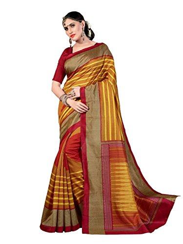 Samskruti Sarees Art Silk Saree (Sapple-8511_Yellow)
